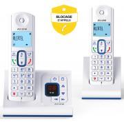 Téléphone sans fil ALCATEL F 630 VOICE DUO BLEU