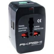 Adaptateur de voyage AKASHI ALTWP 200 BLK