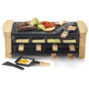 Machine à raclette KITCHEN CHEF KCWOOD 8 RP