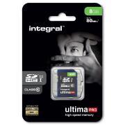 Carte secure digital INTEGRAL SDHC 8 GO CL 10/80