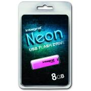 Cle usb INTEGRAL NEON ROSE 8 GB