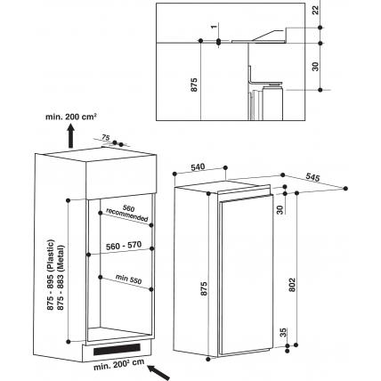 Réfrigérateur intégré 1 porte WHIRLPOOL ARG 9421 A+ - 4