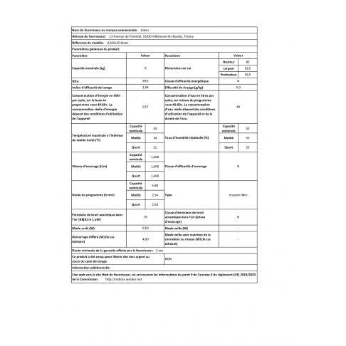 Lave-linge frontal JEKEN JJJ10LL25 - 2