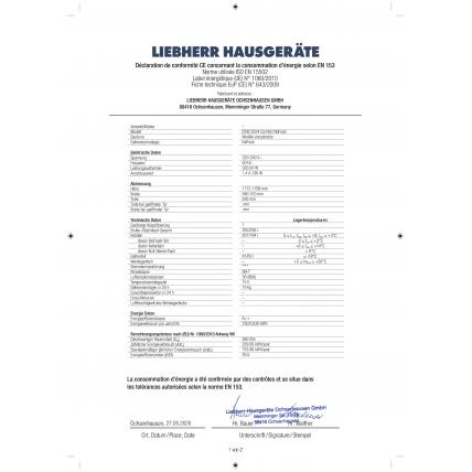 Réfrigérateur combiné intégré LIEBHERR ICNS 3324-22 - 2
