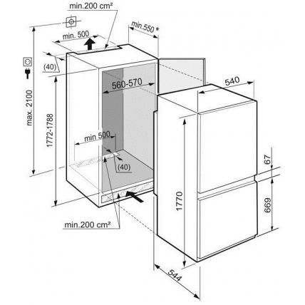 Réfrigérateur combiné intégré LIEBHERR ICNS 3324-22 - 8