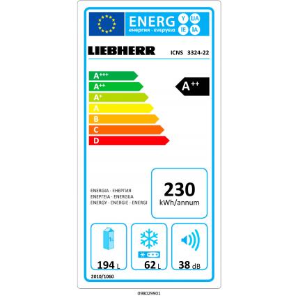 Réfrigérateur combiné intégré LIEBHERR ICNS 3324-22 - 12