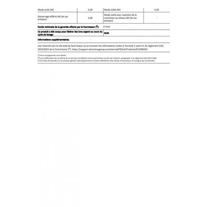 Lave-linge intégrable ELECTROLUX EW7F1480BI - 3