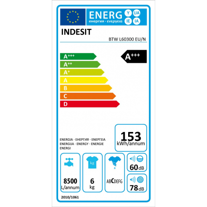 Lave-linge top INDESIT BTWL 60300 EUN - 4