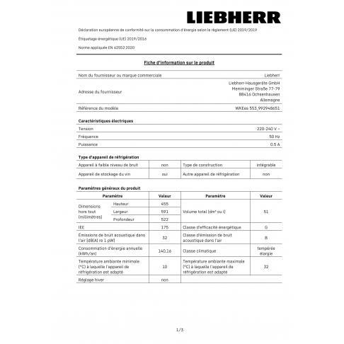 Cave à vin intégrée LIEBHERR WKEES 553-21 - 1