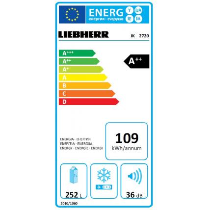 Réfrigérateur intégrable 1 porte LIEBHERR IK 2720-21 - 3