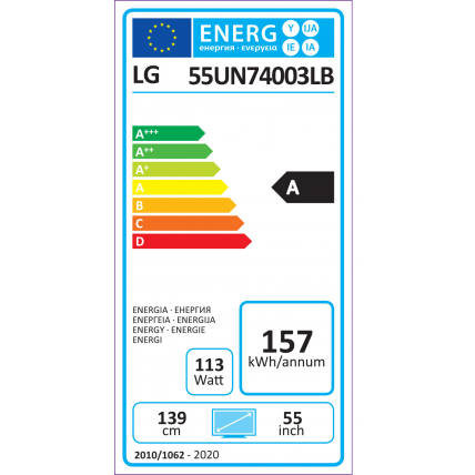 Tv led 55'' LG 55UN74003LB - 5