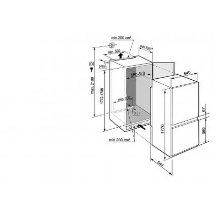 Réfrigérateur combiné intégrable LIEBHERR CIS 331 - 4