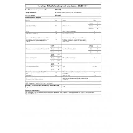 Lave-linge top BRANDT BT652AT - 3
