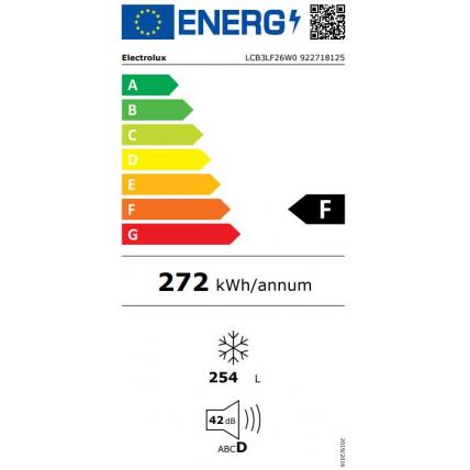 Congélateur coffre ELECTROLUX LCB 3 LF 26 W 0 - 5