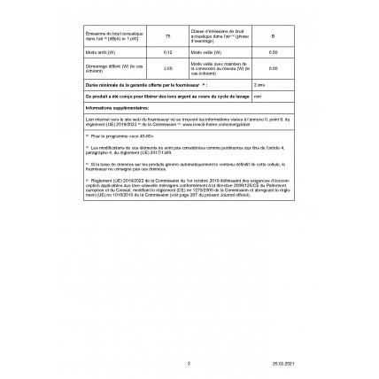 Lave linge frontal BOSCH WAJ 28057 - 10