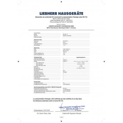 Réfrigérateur intégré 1 porte LIEBHERR IKS 261-21 - 1
