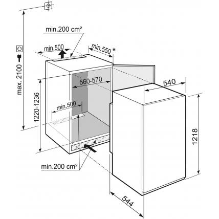 Réfrigérateur intégré 1 porte LIEBHERR IKS 261-21 - 10