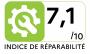 Lave linge frontal BOSCH WAJ 28057 - Indice de réparabilité