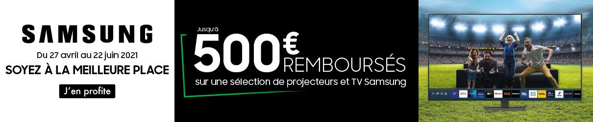 Offre Samsung 500€ remboursés MDA