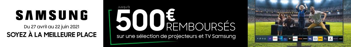 ODR SAMSUNG jusqu'à 500€ remboursés MDA